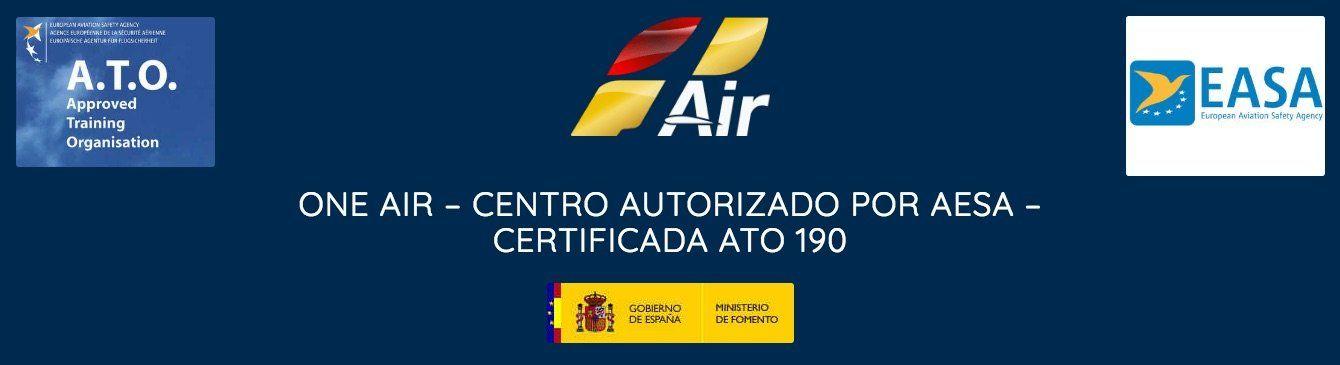 Logos de oneair aviacion centro autorizado ato easa