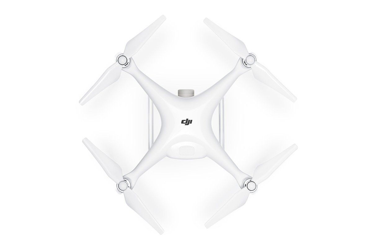 vista superior drone dji phantom 4