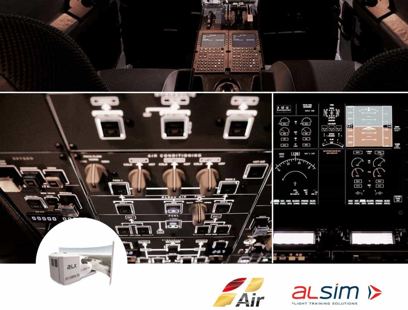 panel superior simulador vuelo alsim alx cockpit instrumentos