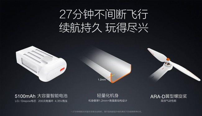 infografia en chino de la bateria del xiaomi mi drone