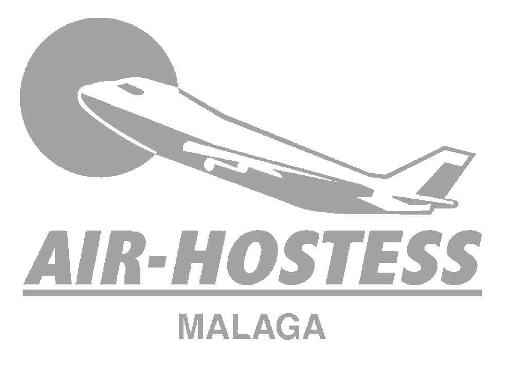 logo grande gris de air hostess malaga