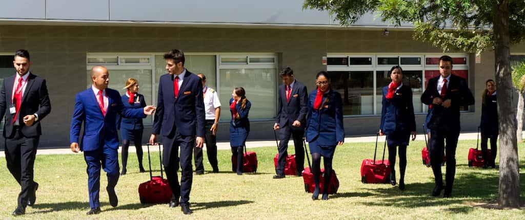 alumnos en curso de tripulantes de cabina en airhostess malaga
