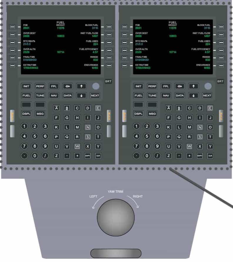 simulador de vuelo alsim alx panel de mandos inferior