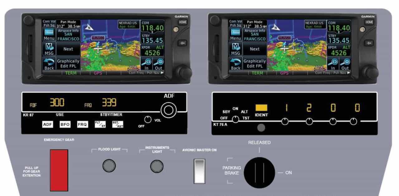 gps integrado en simulador de vuelo alsim alx