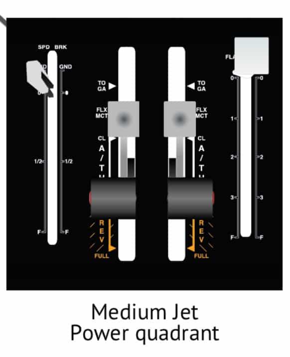 palanca medium jet simulador de vuelo alsim alx