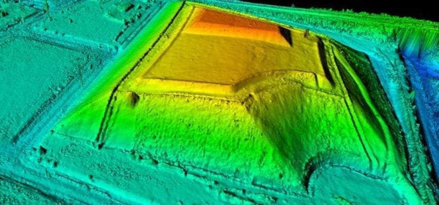 imagen de medicion de volumen con drones
