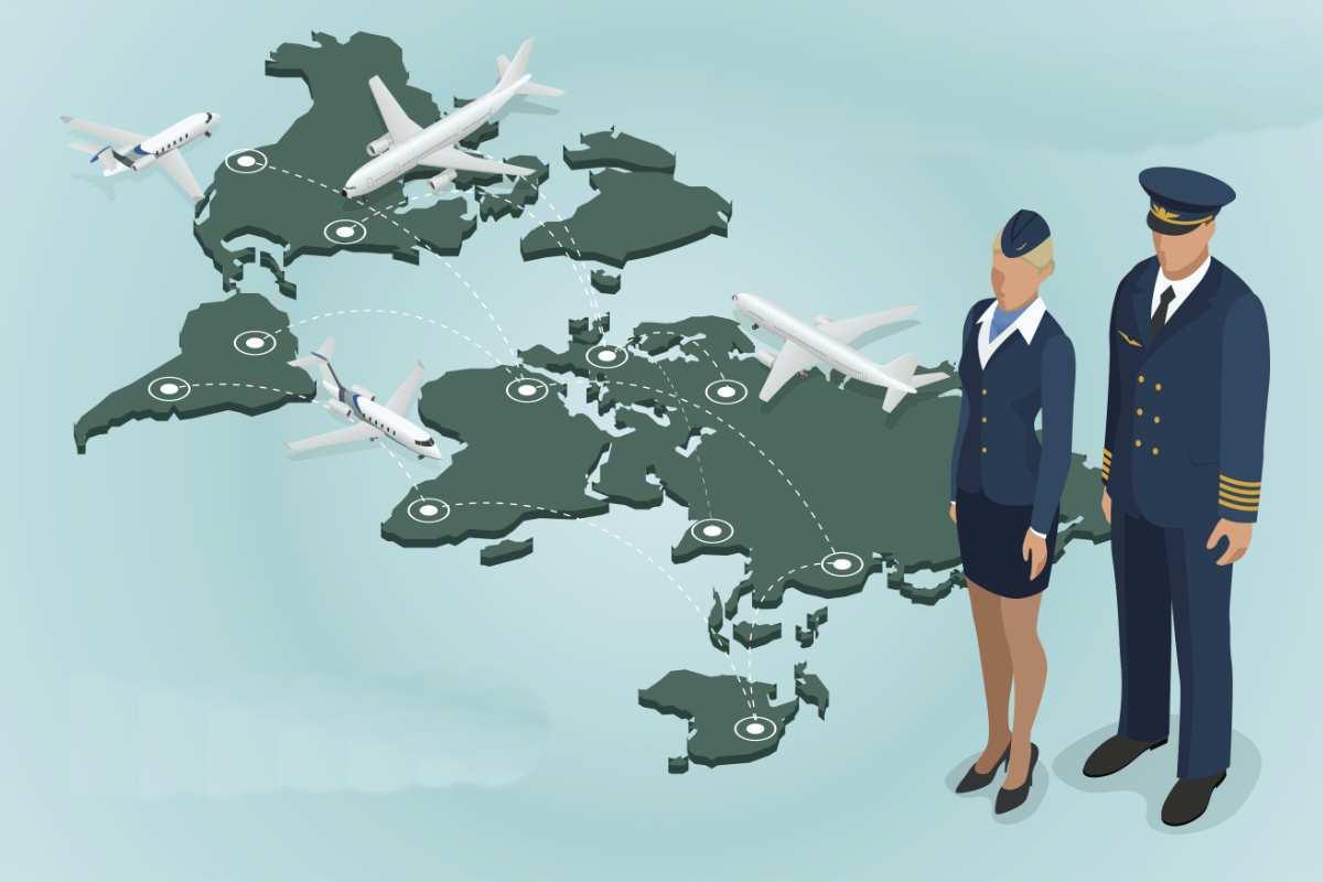 mapa mundial de rutas de aviones comerciales