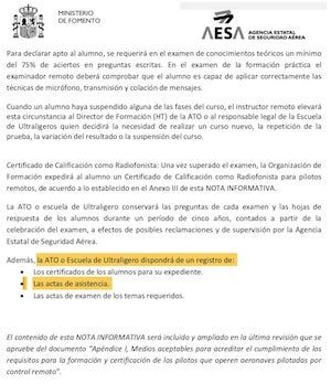 pagina numero dos del documento oficial sobre la nueva normativa de radiofonista