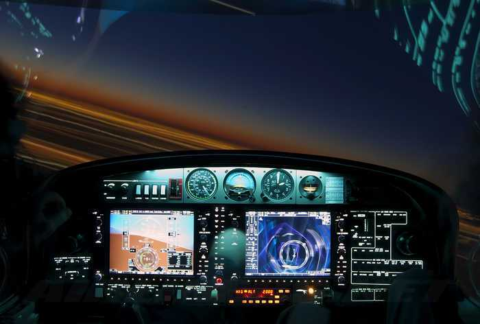 pantallas de mando de avion