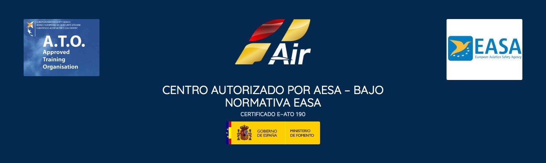 logo de la empresa oneair aviacion y logos de easa - ato y gobierno de españa