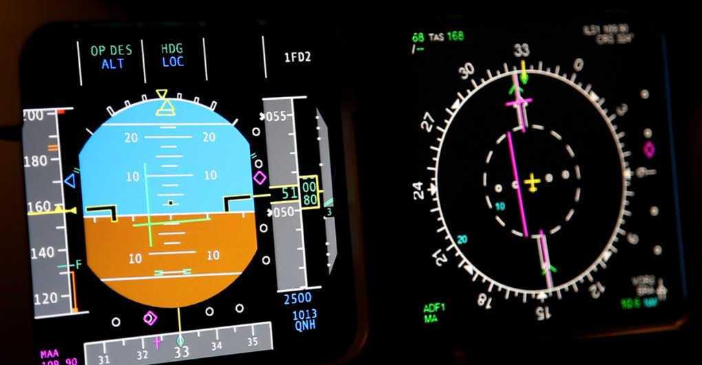 detalle de instrumentacion de aeronave