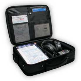 maleta con instrumental para el curso de piloto de avion ligero
