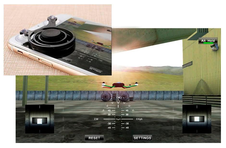 simulador y joystick de regalo con el cirso de drones malaga