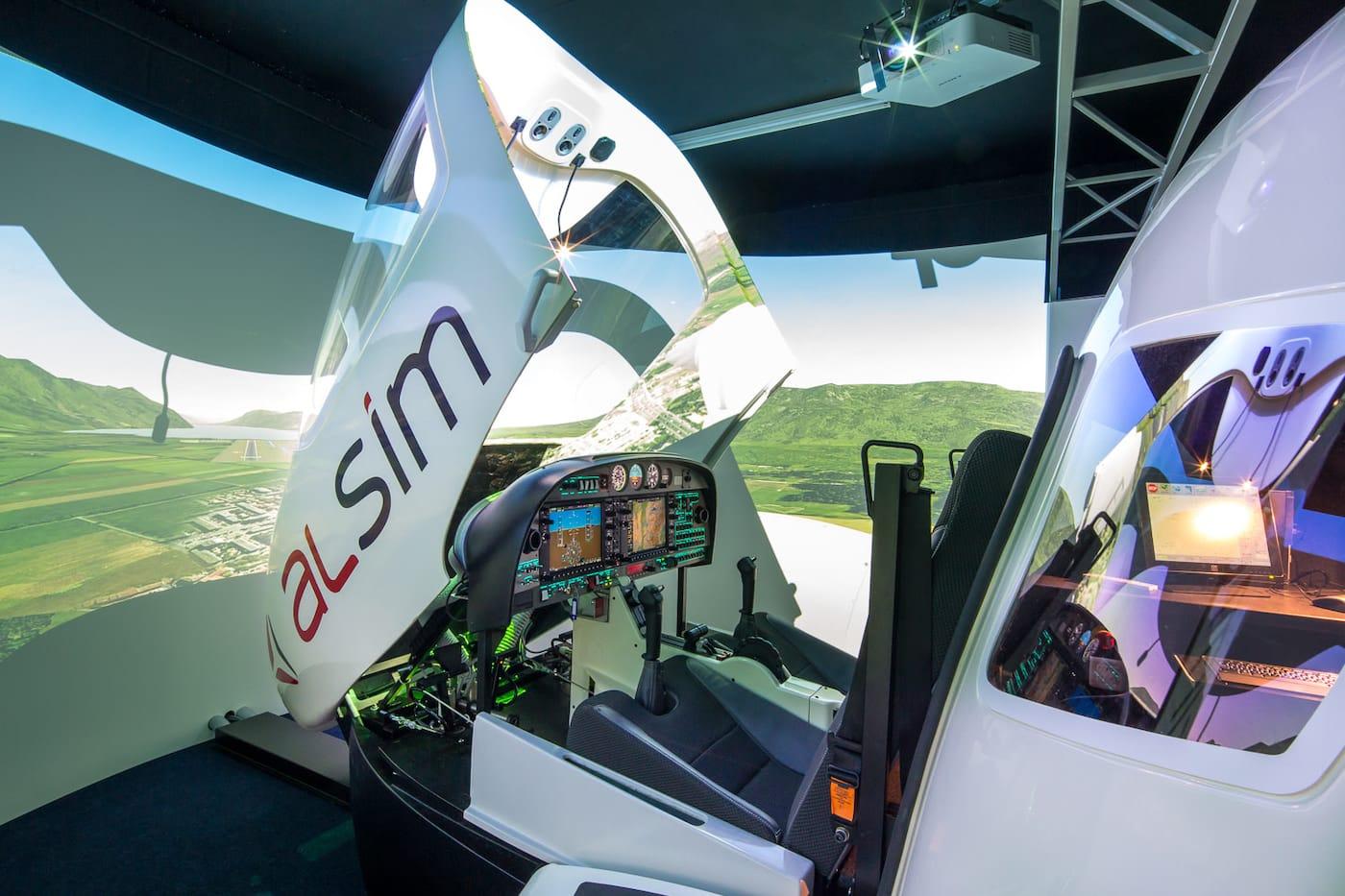 simulador de vuelo alsim al42