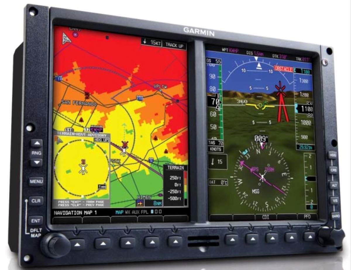 detalle de pantalla de control de aeronave diamond da20