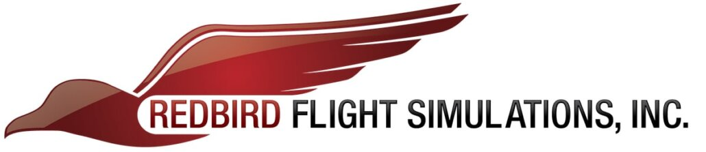 logo del fabricante americano de simuladores redbird flight simulations inc