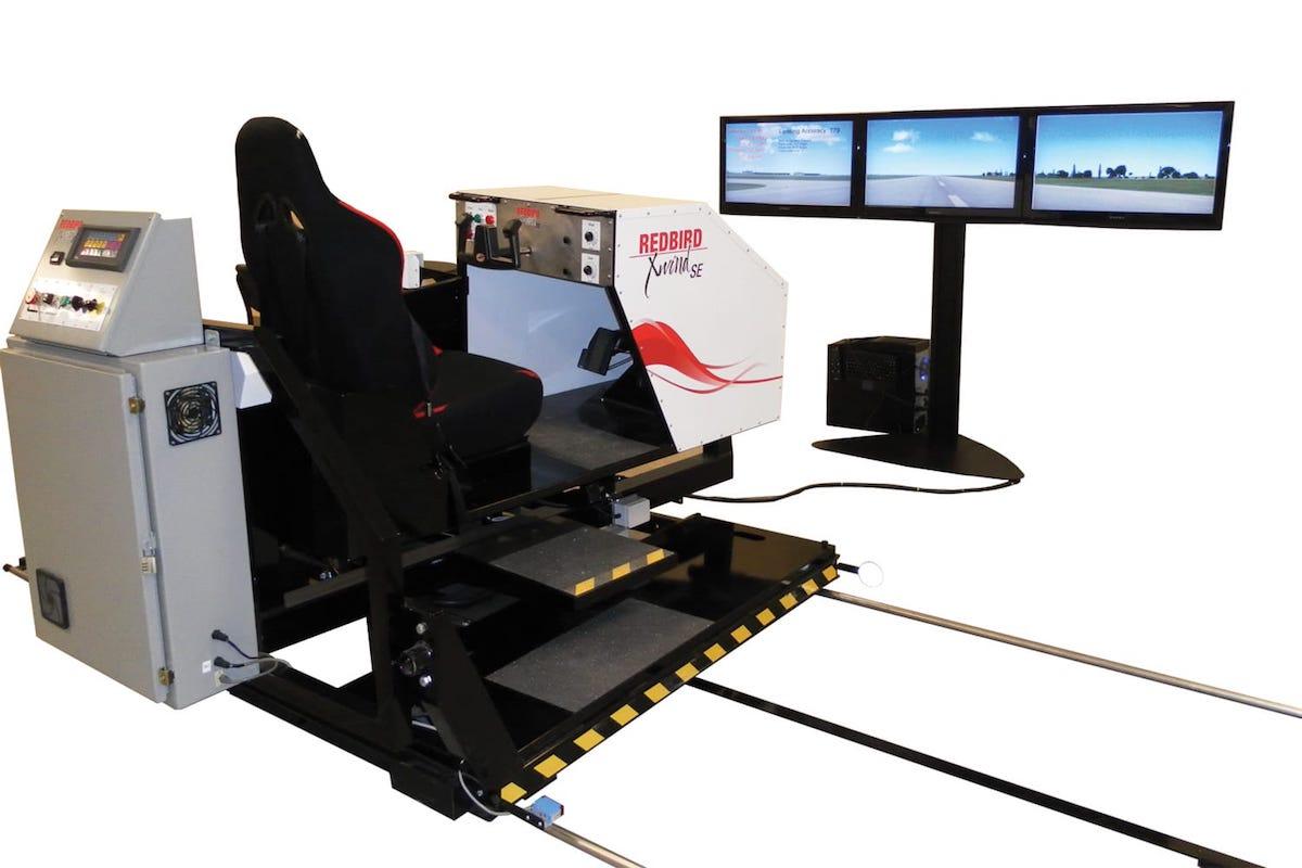 simulador full motion xwind de redbird