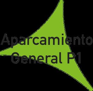 Logo aparcamiento general P1 del Aeropuerto de Málaga.