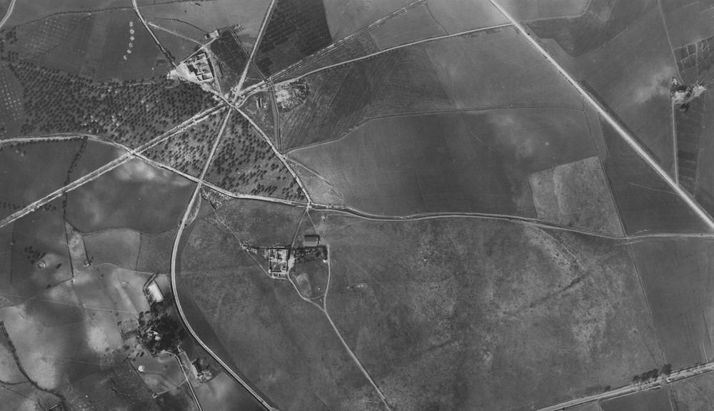 Vista aérea de la parcela de 'El Rompedizo', donde comenzó su istoria el Aeropuerto de Málaga.