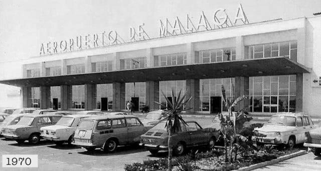 Fachada del Aeropuerto de Málaga en 1970.