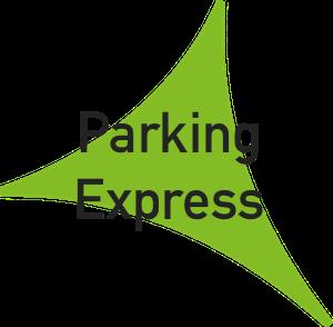Logo parking express preferente salidas del Aeropuerto de Málaga.