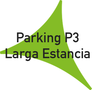 Logo parking p3 larga estancia del Aeropuerto de Málaga.