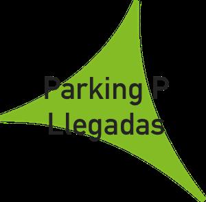 Logo aparcamiento preferente llegadas de la t2 del aeropuerto de Málaga.